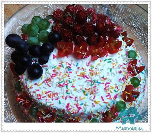 园——给年爸的生日蛋糕-一棵开花的树