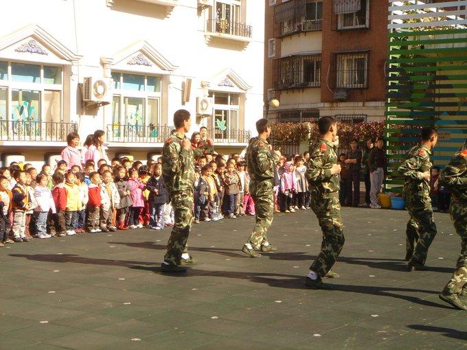 看解放军叔叔表演 2008年10月24日