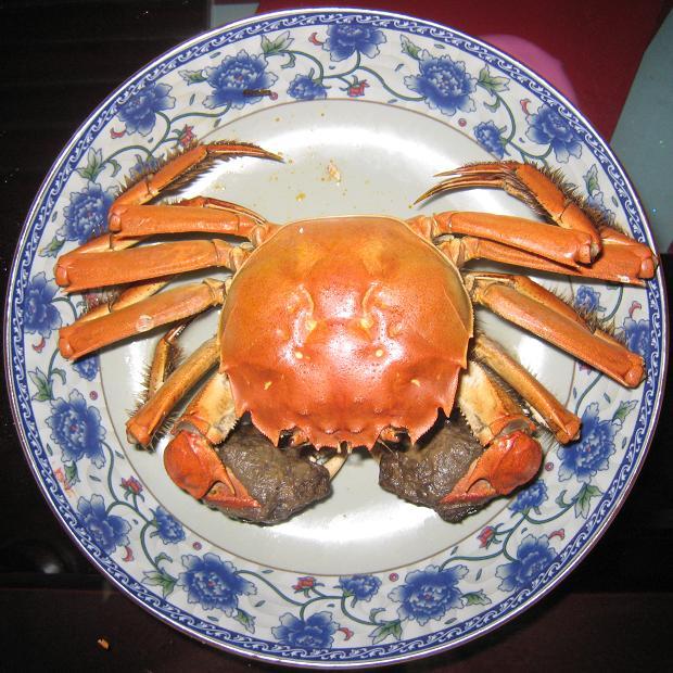舒畅/老公从校友那得来的正宗的烹调大闸蟹的方法,据说这样煮出来的...