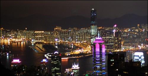 美丽的夜香港