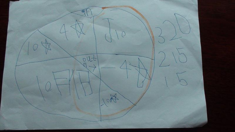 游戏 颗星/视力表:幼儿园检查完视力制作。
