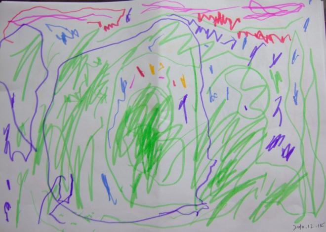 涂鸦画:格格解释:蚂蚁窝
