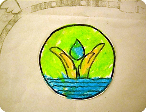 节约用水简单的画-制作节水标记 2011 06 23图片