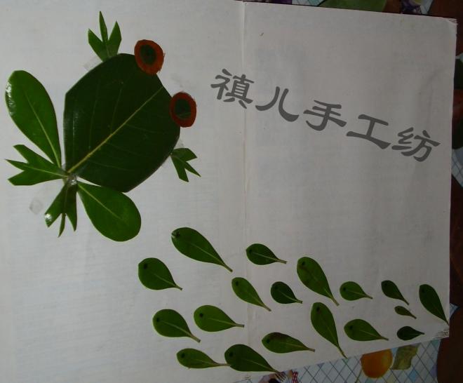 幼儿园作业 之一 树叶画