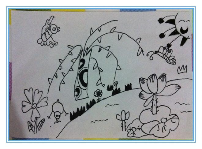 第二节课作品:《春天来了》图片