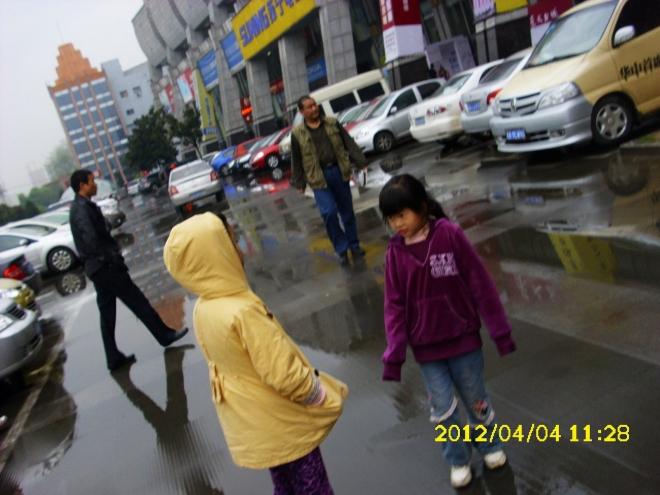 天下着雨...