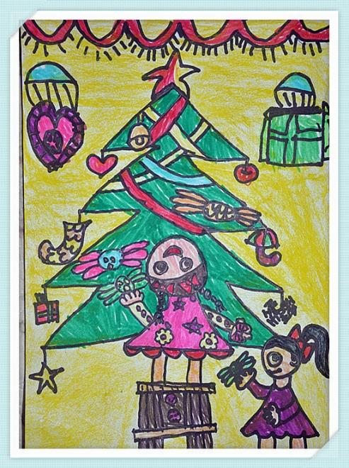 幼儿水彩笔画_绘画分享