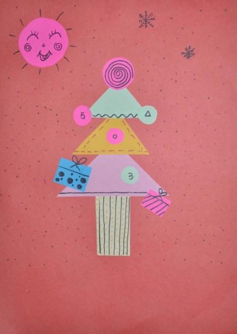国庆节绘画粘贴画-第一张是妈妈的剪贴画-晨曦2013年1月假期绘画作品和手工作品