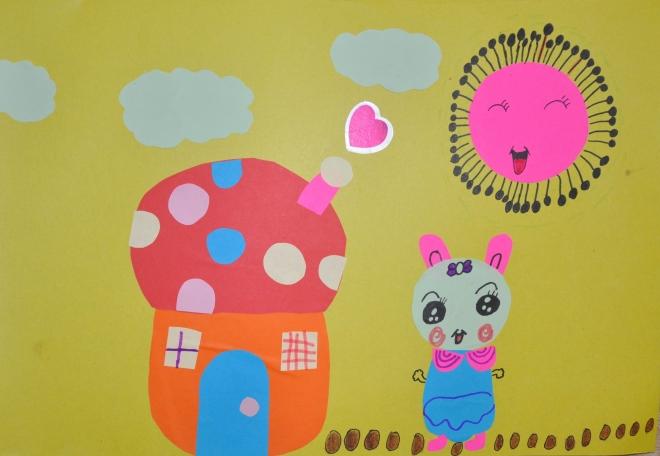 晨曦的剪贴画,多了很多童趣.-晨曦2013年1月假期绘画作品和手工作