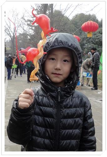 """初四回到西安,去小雁塔逛庙会,看我的""""蛇鼠一窝"""""""