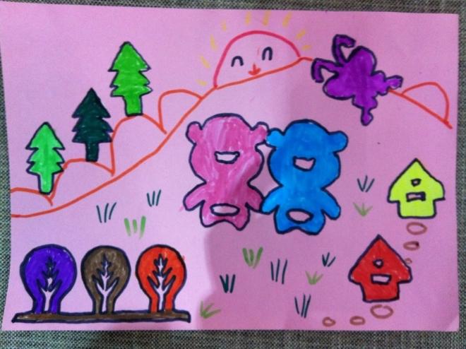 儿童成长剪贴画-去郊游》,剪纸粘贴画-和漂亮宝宝一起成长