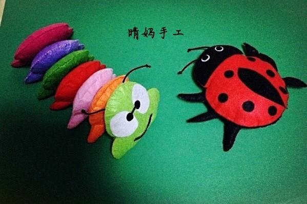 【晴妈手工】+diy不织布相框+不织布昆虫动物
