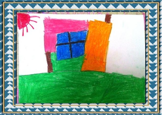 简笔画作品:乡村的房子