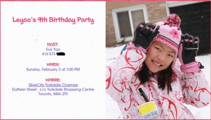 2014-01-17&nbsp;<wbr>给孩子举办生日Party的流程