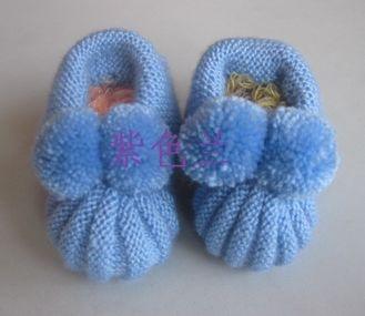 婴儿南瓜鞋子编织图解