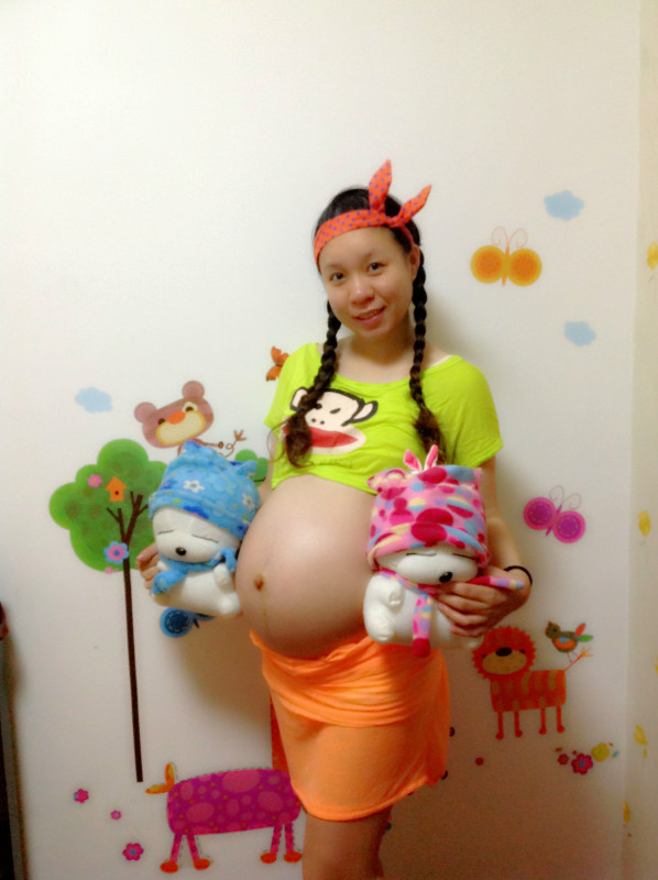 孕34周:我的世界从此以后多了一个你。