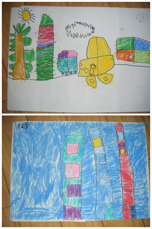 """第一个绘画班的""""作品展"""""""