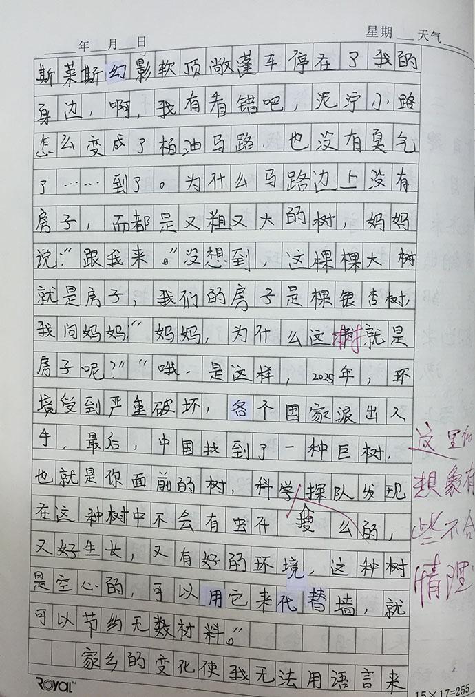 小学五年级作文二十年后回故乡(共7篇)